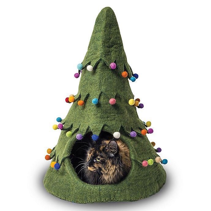 Alternate image 1 for Holiday Tree Wool Pet Cave