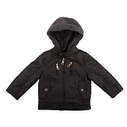 Urban Republic Faux Leather Biker Jacket in Black