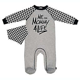 Mini Heroes™ 2-Piece Mama for Life Footie and Bandana Set in Grey