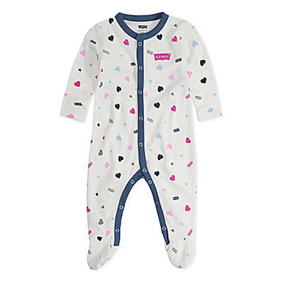 Levi's® Heart Print Coveralls in Ivory