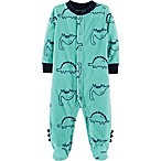 carter's® Newborn Dinosaur Micro Fleece Sleep & Play in Green