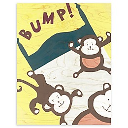 Brown Monkeys 11-Inch x 14-Inch Wood Wall Art