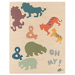 Lions and Tigers and Bears 11-Inch x 14-Inch Wood Wall Art