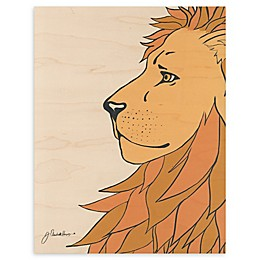 White Lion 16-Inch x 20-Inch Wood Wall Art