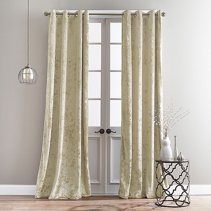 Alternate image 1 for Bedeck Cairo 63-Inch Grommet Window Curtain Panel in Champagne