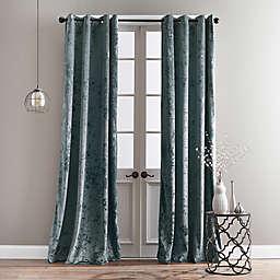 Bedeck Cairo 84-Inch Grommet Window Curtain Panel in Peacock