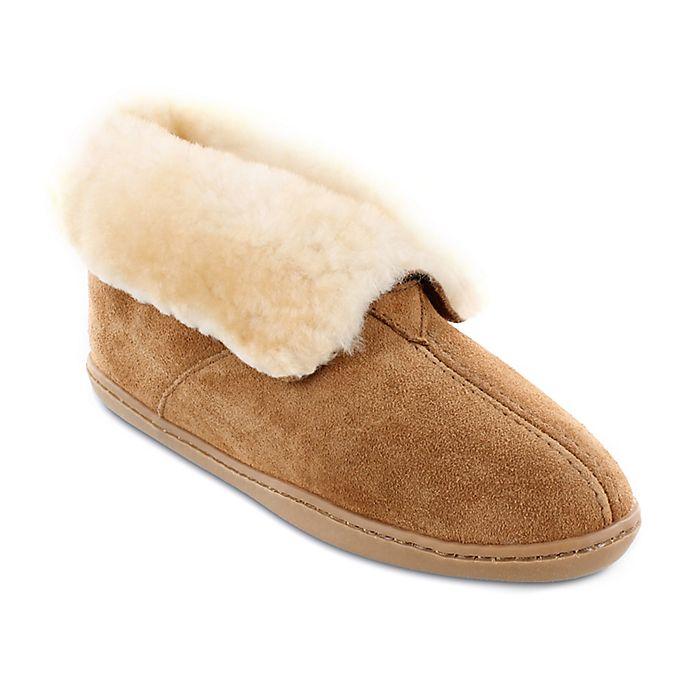Alternate image 1 for Minnetonka® Sheepskin Size 8 Woman's Ankle Boot in Golden Tan