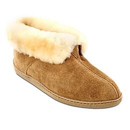 Minnetonka® Men's Sheepskin Ankle Boot Slipper