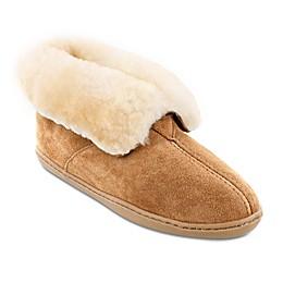 Minnetonka® Sheepskin Women's Ankle Boot in Golden Tan