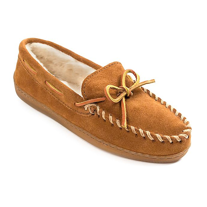 Alternate image 1 for Minnetonka Wide Pile Lined Hardsole Women's Slippers