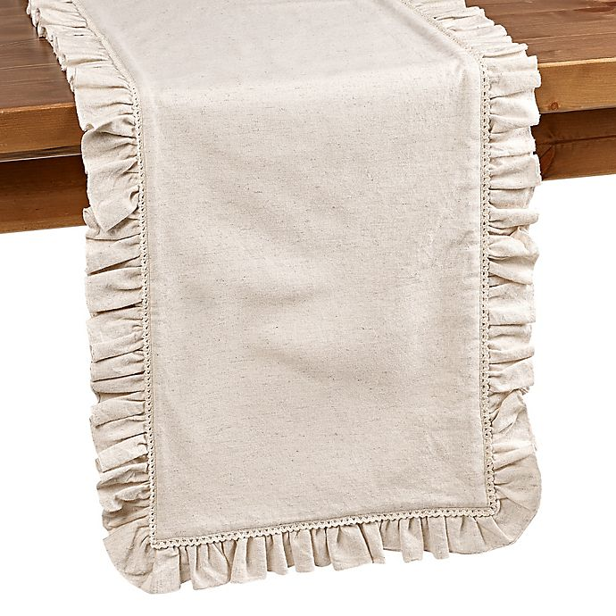 Alternate image 1 for Bee & Willow™ Home Ruffle Edge Table Runner in Natural