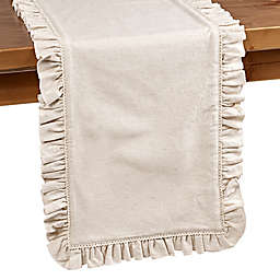 Bee & Willow™ Home Ruffle Edge Table Runner in Natural