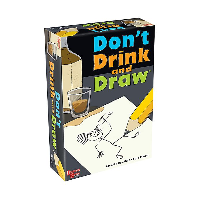 Alternate image 1 for University Games Don't Drink and Draw Party Game