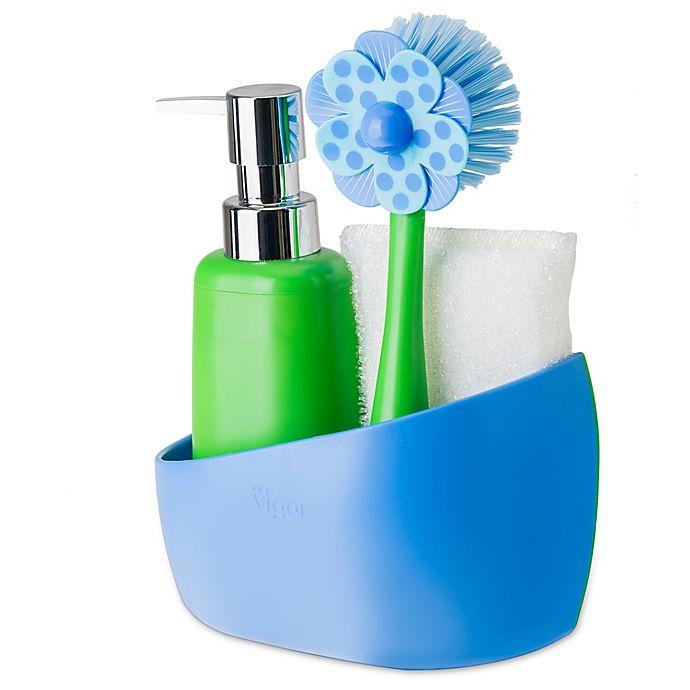 Sink Side Set Soap Dispenser with Caddy