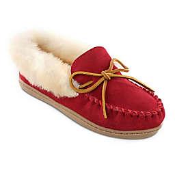 Minnetonka® Size 8 Alpine Sheepskin Moccasin Women's Slippers in Red