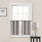 Quinn 45-Inch Grommet Kitchen Window Curtain Tier Pair in Grey