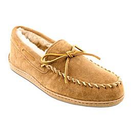 Minnetonka® Sheepskin Moccasin in Golden Tan