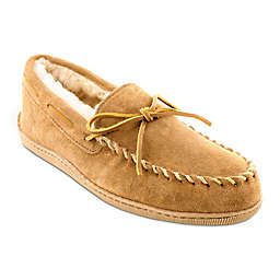 Minnetonka® Sheepskin Moccasin in Golden Tan