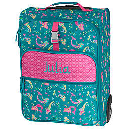 Stephen Joseph® Mermaid Embroidered Rolling Luggage in Blue/Pink