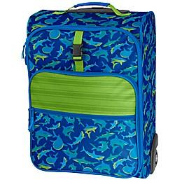 Stephen Joseph® Shark Rolling Luggage in Blue/Green