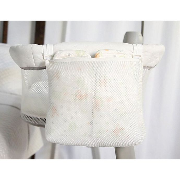 Alternate image 1 for Arm's Reach® Co-Sleeper® Bassinet Diaper Bag in Off White