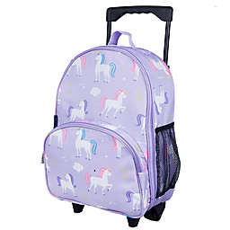 Wildkin Unicorn Rolling Luggage in Purple