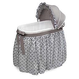 Badger Basket Lovely Wishes Bassinet in Grey/White