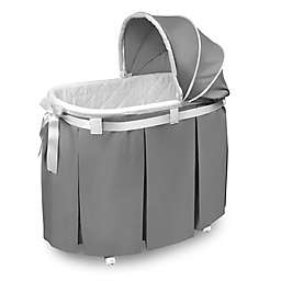 Badger Basket Lovely Wishes Bassinet in Grey