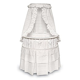 Badger Basket Elegance Round Bassinet with Canopy