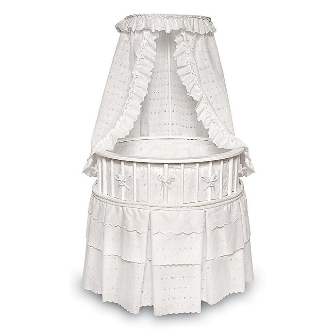 Alternate image 1 for Badger Basket Elegance Round Bassinet with Canopy