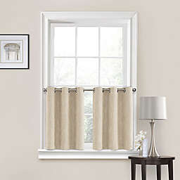 Quinn 24-Inch Grommet Kitchen Window Curtain Tier Pair in Linen