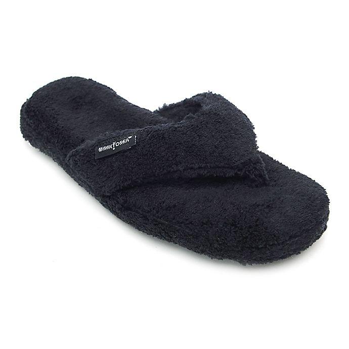 Alternate image 1 for Minnetonka® Olivia Size Small Women's Slipper in Black