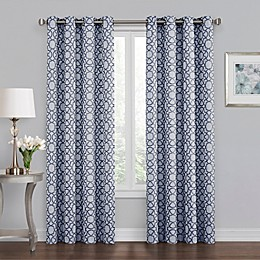 Quinn Geo Grommet 100% Blackout Window Curtain Panel