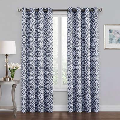 Quinn Geo Grommet 100% Blackout Window Curtain Panel