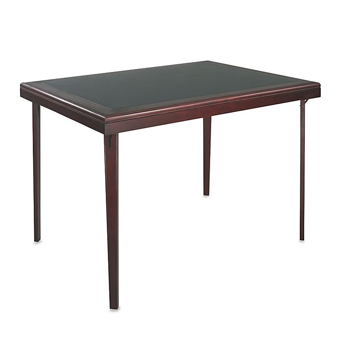 Alternate image 1 for Cosco® Rectangular Wood Folding Table with Vinyl Inset