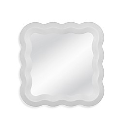 Bassett Mirror Company 24-Inch Square Emma Wall Mirror in White Lacquer