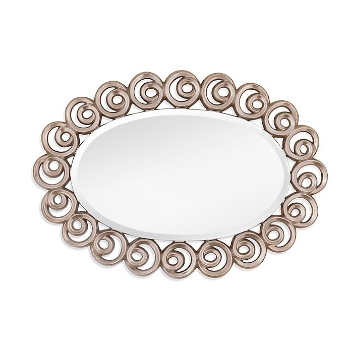 Alternate image 1 for Bassett Mirror Company 31-Inch x 43-Inch Oval Avery Wall Mirror in Silver