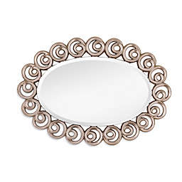 Bassett Mirror Company 31-Inch x 43-Inch Oval Avery Wall Mirror in Silver