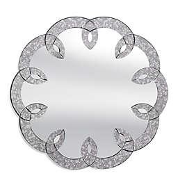 Bassett Mirror Company 36-Inch Round Gina Wall Mirror in Antique