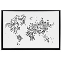 Global Matrix 24-Inch x 36-Inch Framed Canvas Wall Art