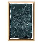 Constellations 12-Inch x 18-Inch Framed Canvas Wall Art