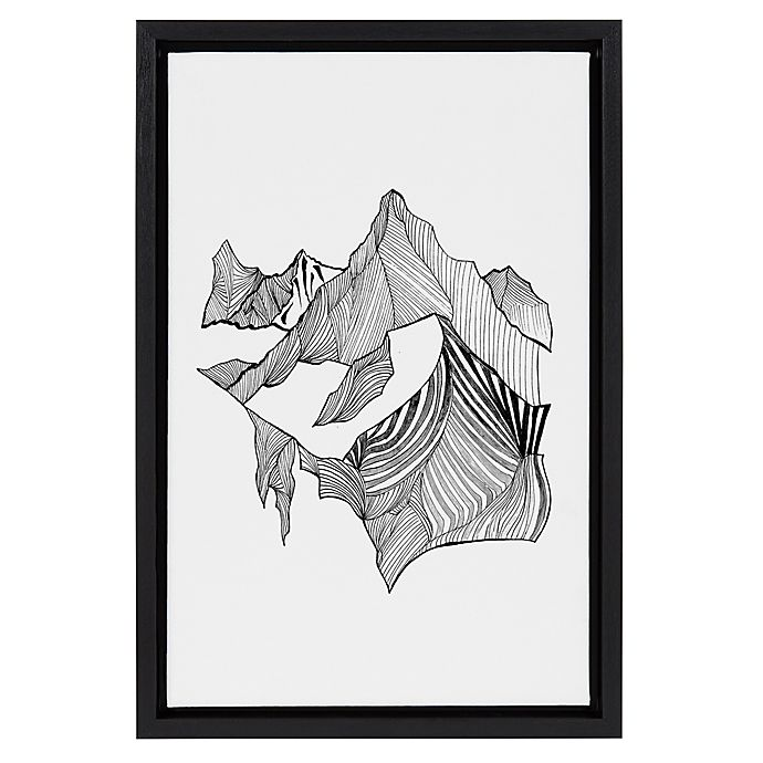 Alternate image 1 for Fragments 12-Inch x 18-Inch Framed Canvas Wall Art