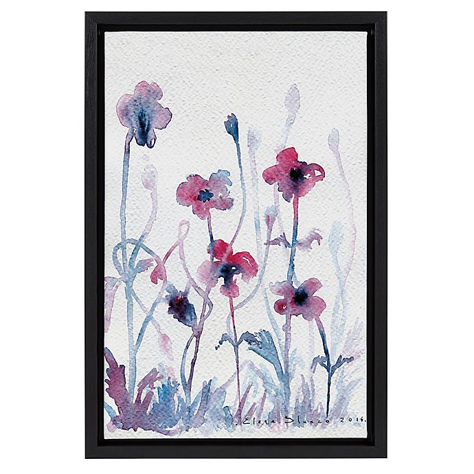 Alternate image 1 for Purple Flower 12-Inch x 18-Inch Framed Canvas Wall Art