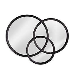 Bassett Mirror Company Trinity 38-Inch x 48-Inch Round Wall Mirror in Black