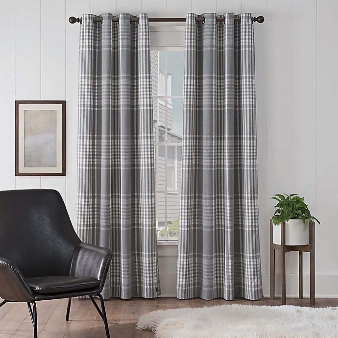 Alternate image 1 for UGG® Terra Plaid Grommet Window Curtain Panel