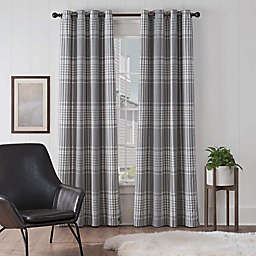 UGG® Terra Plaid 108-Inch Grommet Window Curtain Panel in Snow/Seal