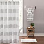 Victoria Striped Shower Curtain in Silver