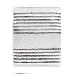 Victoria Striped Bath Towel in Silver