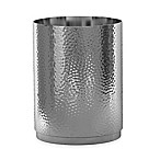 Majestic Hammered Wastebasket in Stainless Steel