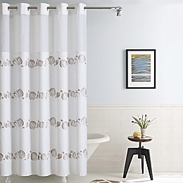 Hookless® Seashell Fabric Shower Curtain in Taupe
